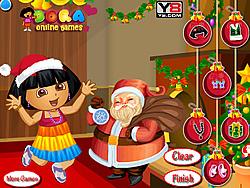 Dora with Santa Dressup